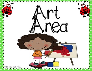 Centers Signs-Ladybug Theme-PreK Work Areas