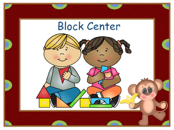 Centers Signs - Monkey Theme