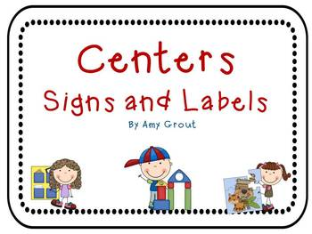 Centers Signs and Labels
