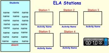 Centers Smart Board stations-various slides~Bundle