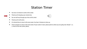 Centers Station Timer