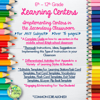 Centers for ANY Classroom, EDITABLE