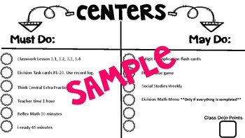 Centers Template