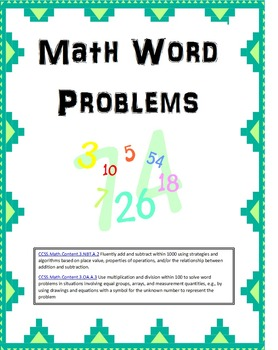 Centers: Word Problems