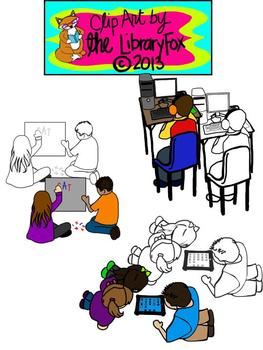 Centers and Behaviors Clip Art with blacklines for Persona