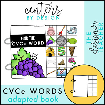 Centers by Design CVCe Words Adapted Book