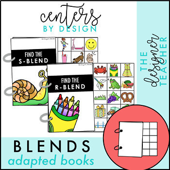 Centers by Design: Consonant Blends Adapted Books BUNDLE
