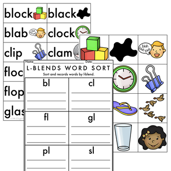 Centers by Design: Consonant Blends Word Sort Bundle