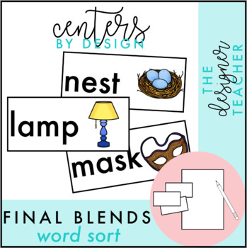 Centers by Design: Final Blends Word Sort