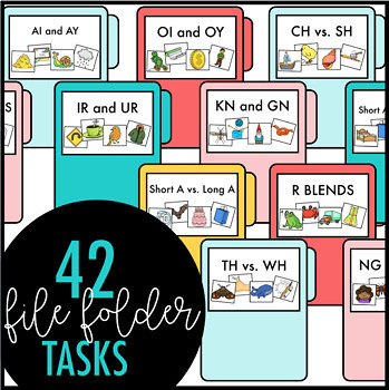 Phonics Centers by Design BUNDLE- File Folders, Clip Cards, Adapted Books, Sorts