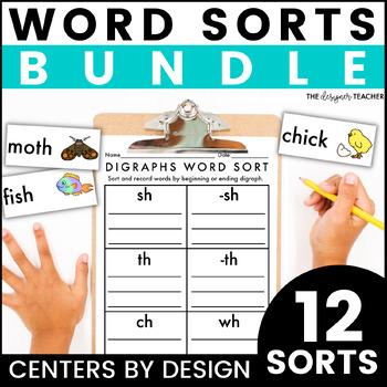 Centers by Design: Phonics Word Sorts BUNDLE
