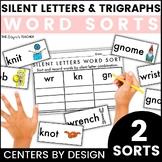 Centers by Design: Silent Letters Sort | Silent Letters KN GR WR | DGE TCH Sort