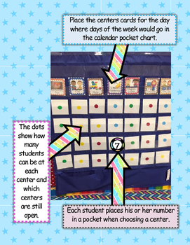 Centers Choice Cards - Making Centers EASY