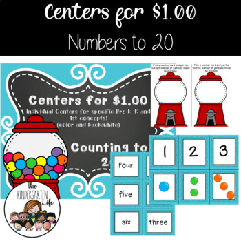 Centers for $1.00: Counting from 1-20