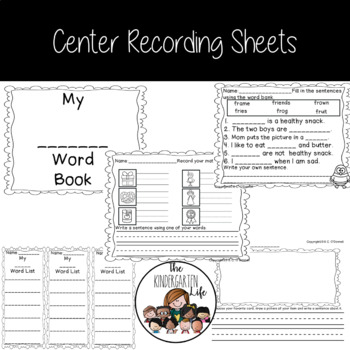 Centers for $1.00: Fr, Gr and Pr Words