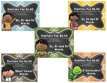 Centers for $1.00: Literacy Bundle ALL 9 FILES!!!!
