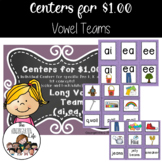 Centers for $1.00: Long Vowel Teams ai, ea, ee