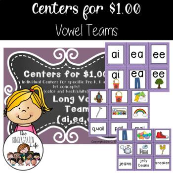 Centers for $1.00: Long Vowel Teams ai, ea, ee