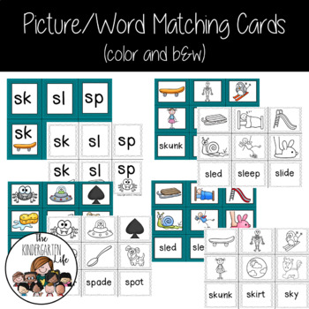Centers for $1.00: Sl, Sk and Sp Words