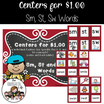 Centers for $1.00: Sm, St and Sw Words