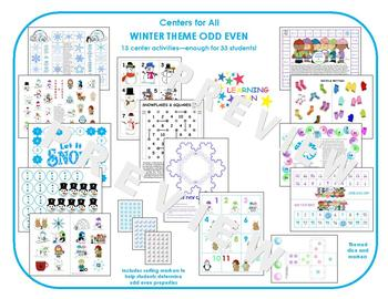 Centers for All - Odd Even Winter Theme