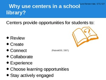 Centers for Differentiation