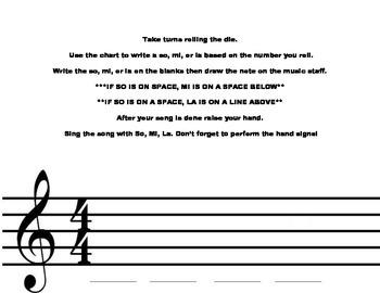 Centers for the Music Classroom-So, Mi, La Dice Composing