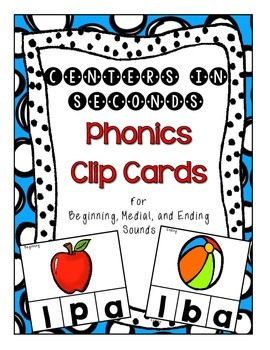 Centers in Seconds - {Phonics Clip Cards}