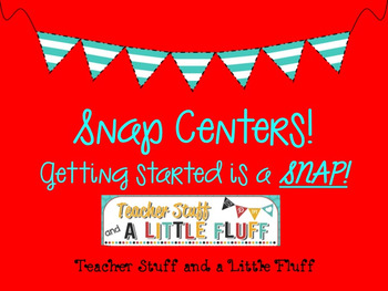 Centers in a Snap! Language Arts Centers