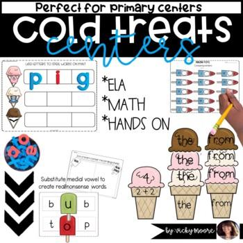 Centers { math/literacy cold treat theme }