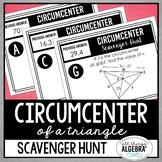 Centers of Triangles (Circumcenter) Scavenger Hunt