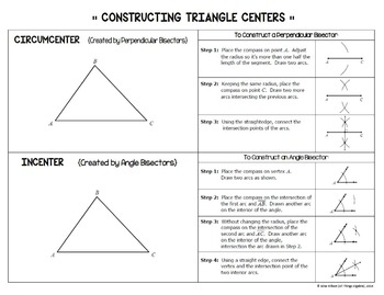 centers of triangles task cards includes constructions by all things algebra. Black Bedroom Furniture Sets. Home Design Ideas