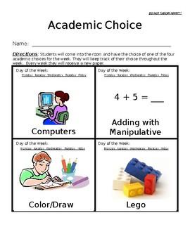 Centers or Academic Choice