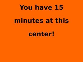 Centers/Stations Classroom Management Timer