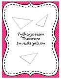 Centimeter Cube Pythagorean Theorem Investigation