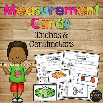 Centimeter and Inch Measurement Cards, 2nd Grade Common Core, Centers, Stations