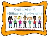 Centimeter &  Millimeter Equivalents