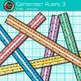 Centimeter Ruler Clip Art {Rainbow Measurement Tool Graphi