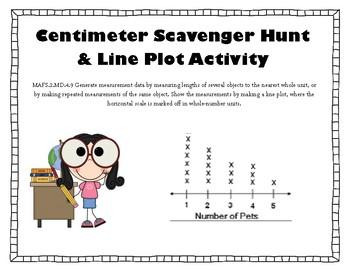 Centimeter Scavenger Hunt & Line Plot Activities