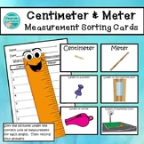 Centimeter and Meter Unit of Measurement Sorting Cards