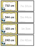 Centimeter og meter.