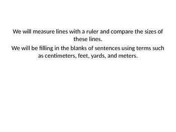 Centimeters and Meters
