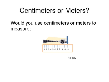 Centimeters and Meters PowerPoint