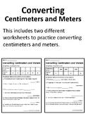 Centimeters and Meters Worksheet Converting Measurements Conversion Worksheet