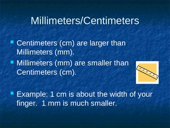 Centimeters/Millimeters