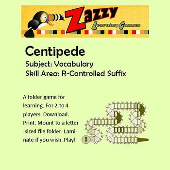 Centipede Folder Game for R-controlled Suffixes