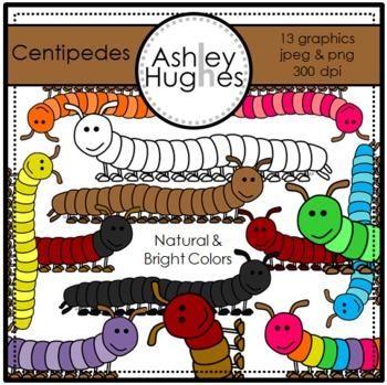 Centipedes Clipart {A Hughes Design}