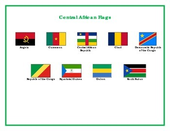 Flags of Central Africa Matching