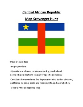 Central African Republic Map Scavenger Hunt