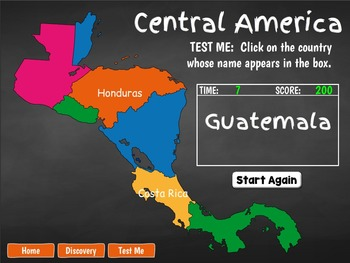 Central America Geography Game for PC and Smartboard